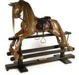 Images of Vintage Wooden Rocking Horse