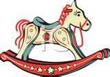 Vintage Wooden Rocking Horse Images