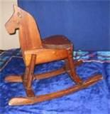 Antique Wood Rocking Horse Images
