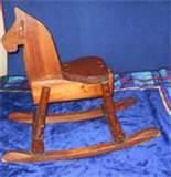 Photos of Antique Wood Rocking Horse