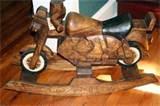 Images of Antique Wood Rocking Horse