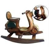 Pictures of Hand Carved Wooden Rocking Horse