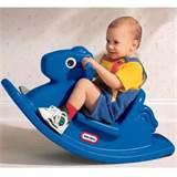 Pictures of Little Tikes Blue Rocking Horse