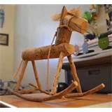 Hand Carved Wooden Rocking Horse Photos