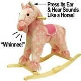 Pink Poodle Rocking Horse