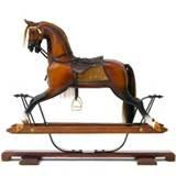 Pictures of Oak Rocking Horse